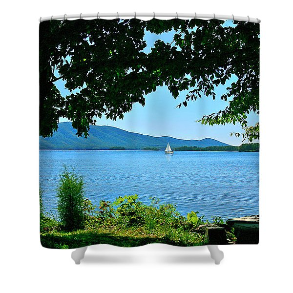 Smith Mountain Lake Sailor Shower Curtain