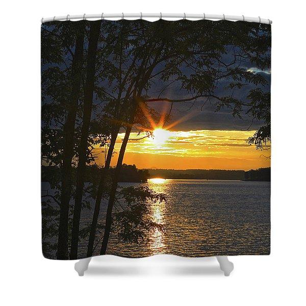 Smith Mountain Lake Summer Sunet Shower Curtain