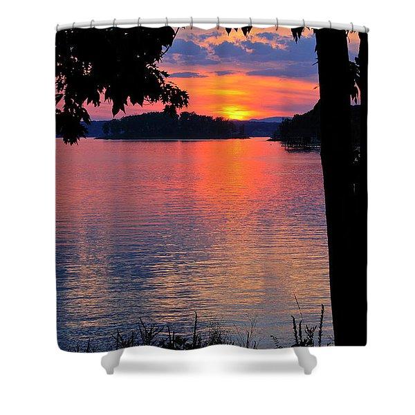 Smith Mountain Lake Sunset Shower Curtain