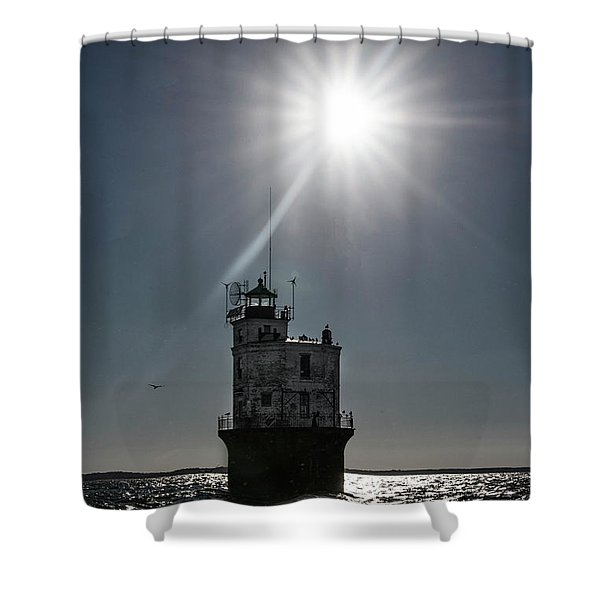 Smith Point Lighthouse Shower Curtain