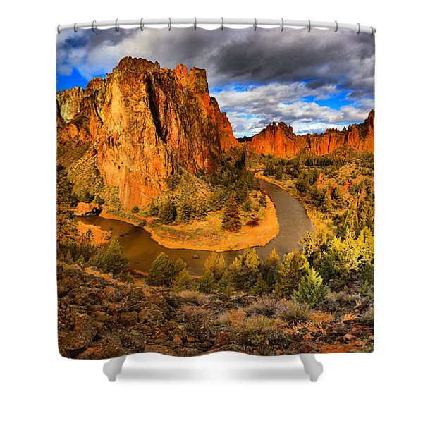 Smith Rock Panorama Shower Curtain