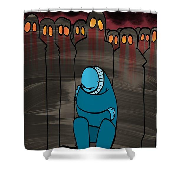 Smog Attack Shower Curtain