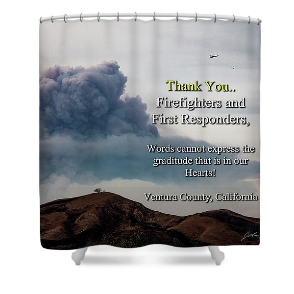 Smoke Cloud Over Two Trees Shower Curtain