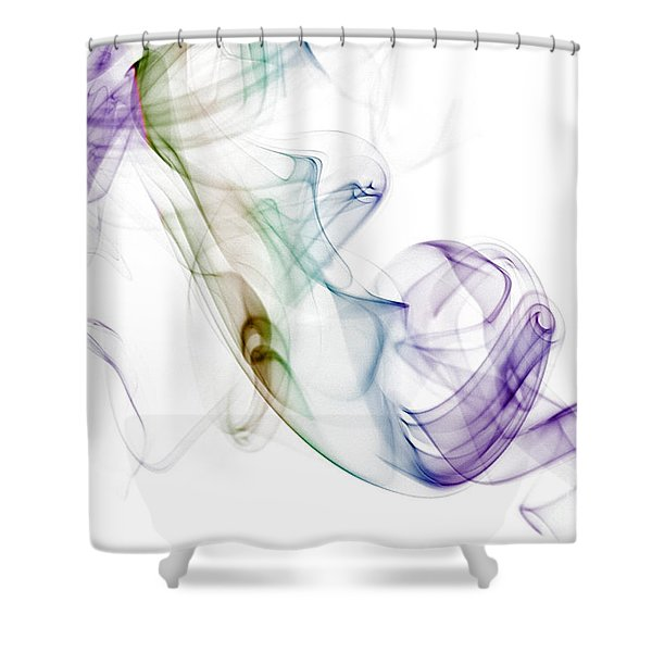 Smoke Seahorse Shower Curtain