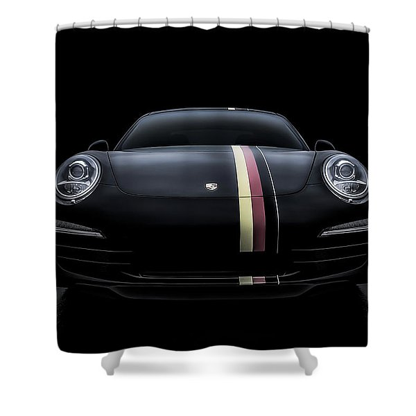 Black Porsche 911 Shower Curtain