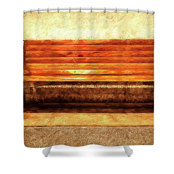 Smoker's Bench Shower Curtain