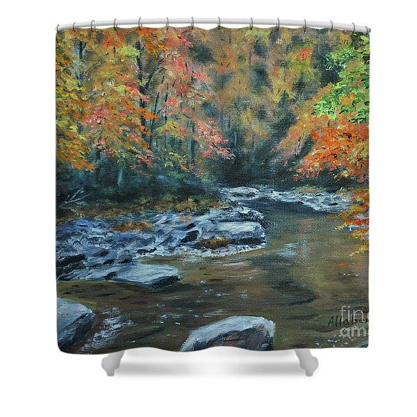 Smokey Mountain Autumn Shower Curtain