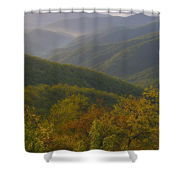 Smokey Mountains Shower Curtain