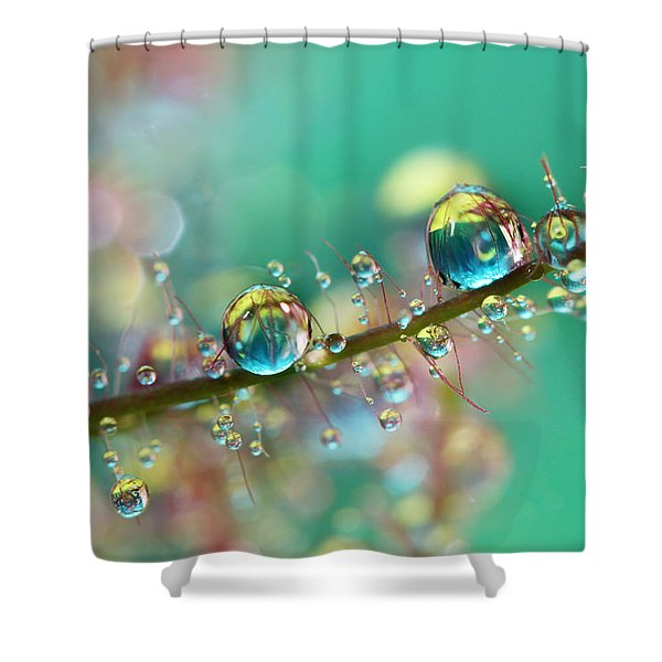 Smokey Rainbow Drops Shower Curtain