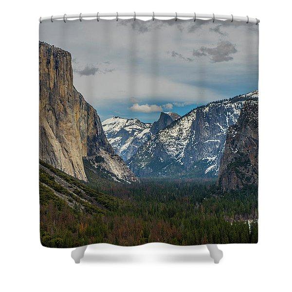 Smokey Yosemite Valley Shower Curtain