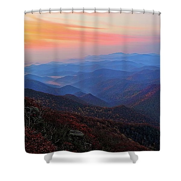 Dawn From Standing Indian Mountain Shower Curtain
