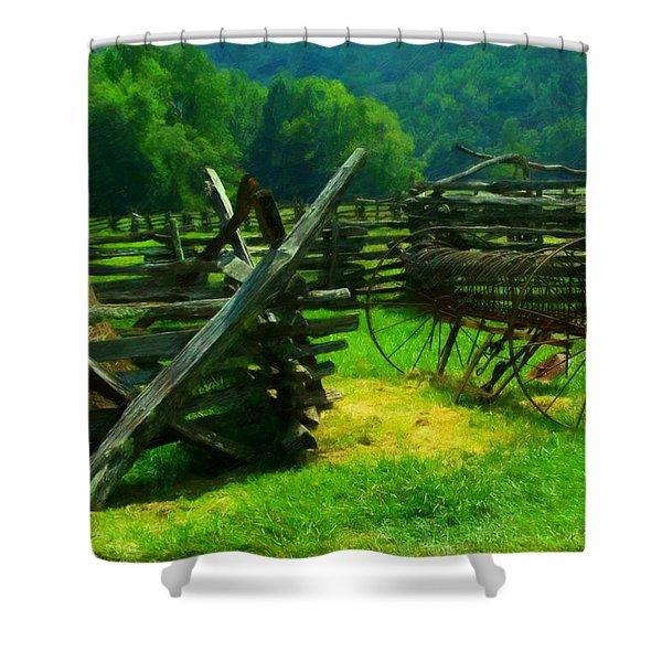 Smoky Mountain Farm 1900s Shower Curtain