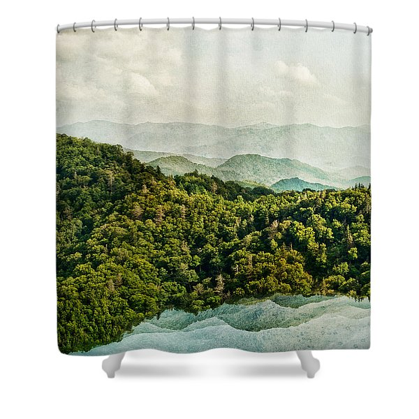 Smoky Mountain Reflections Shower Curtain