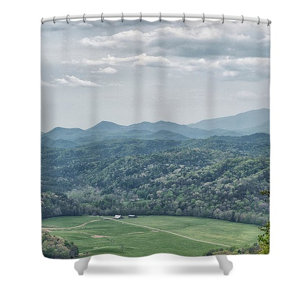 Smoky Mountain Scenic View Shower Curtain