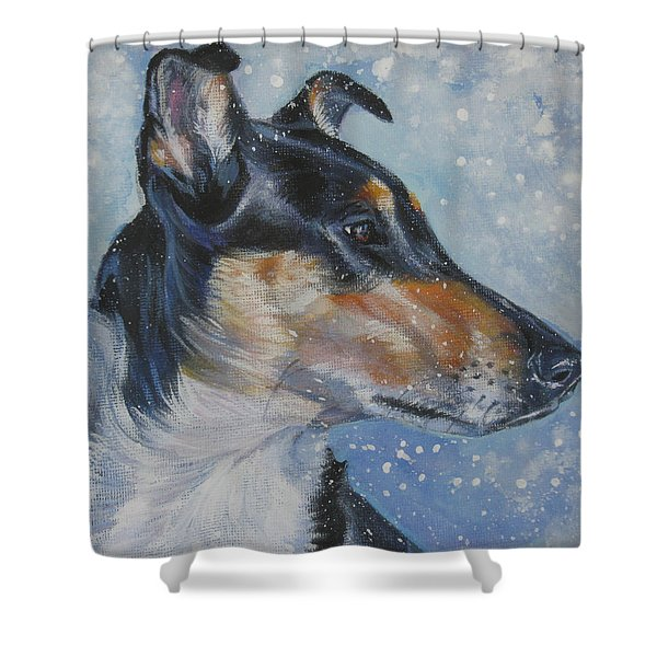 Smooth Collie Shower Curtain