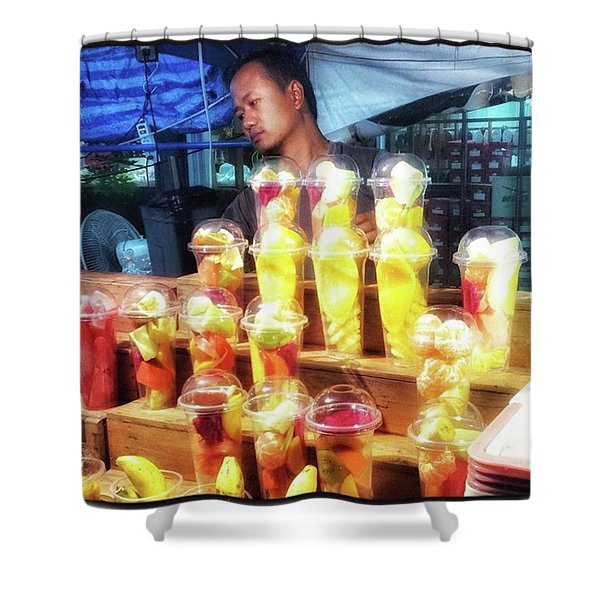 Shower Curtain featuring the photograph Smoothie Nirvana. Choose A Cup Of by Mr Photojimsf