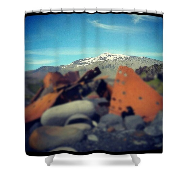 Iron And Ice. Shower Curtain