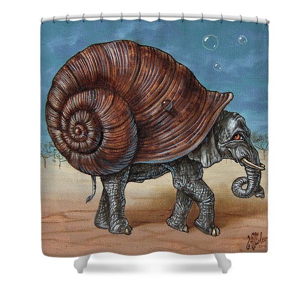 Snailephant Shower Curtain