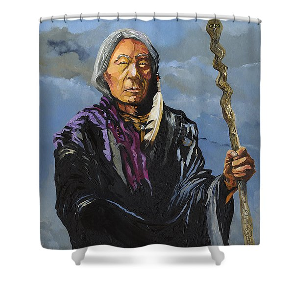 Snake Medicine Shower Curtain