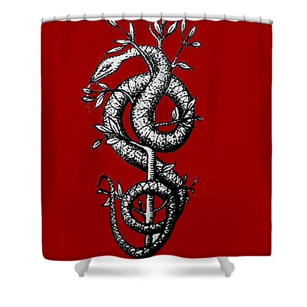 Snake Of Wisdom Shower Curtain