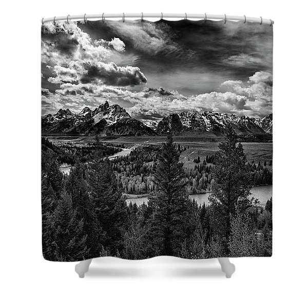Snake River And Tetons Shower Curtain