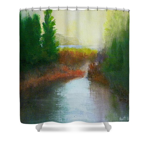 Snake River Canoe Trip Shower Curtain