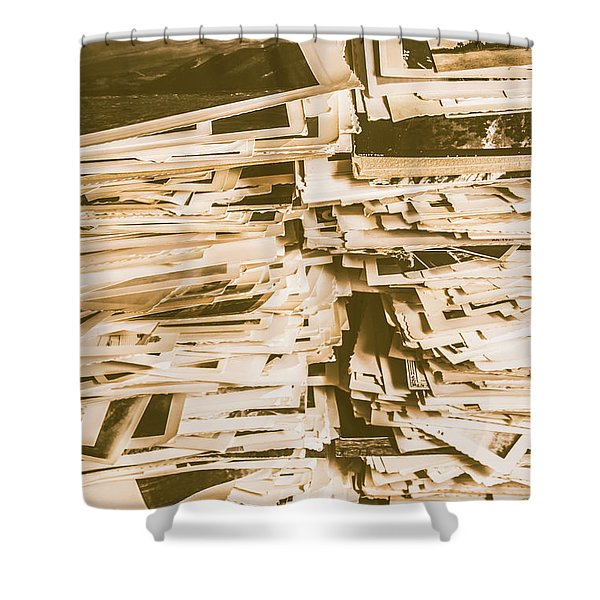 Snapshots From Times Worn Shower Curtain