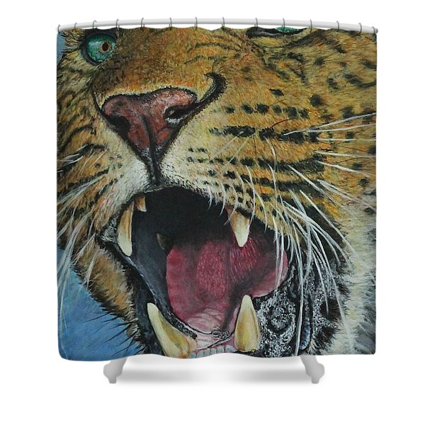 Snarl...amur Leopard Shower Curtain