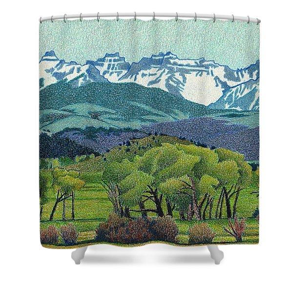 Sneffels Range Spring Shower Curtain