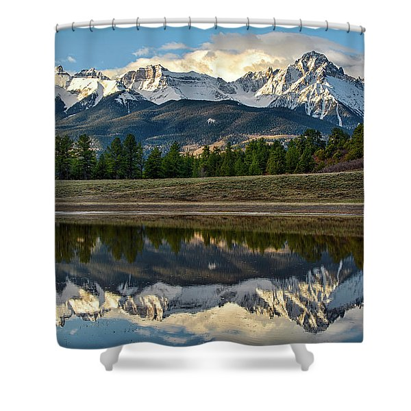 Sneffels Reflected Shower Curtain