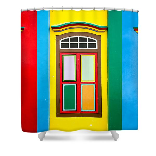 Singapore Windows Shower Curtain