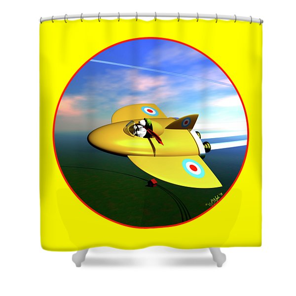Snoopy The Flying Ace Shower Curtain