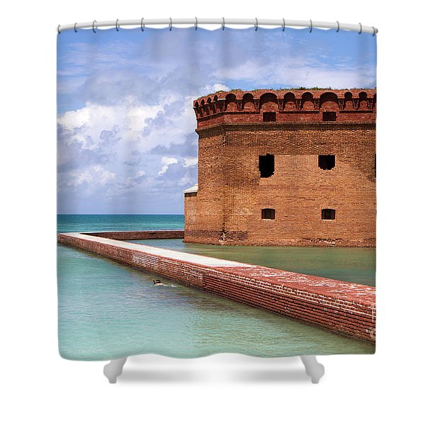 Snorkelers Fort Jefferson Shower Curtain