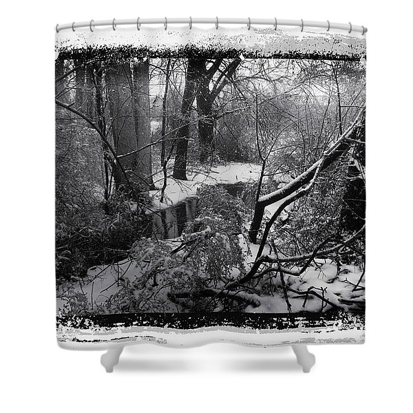 Shower Curtain featuring the photograph Snow 2018 by Robert G Kernodle