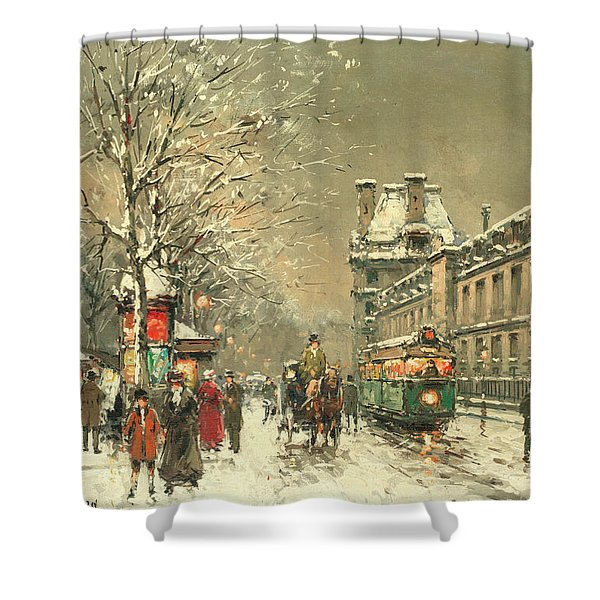 Snow At Twilight Shower Curtain
