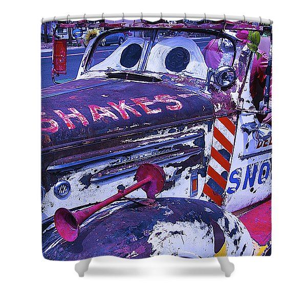 Snow Cap Car Shower Curtain