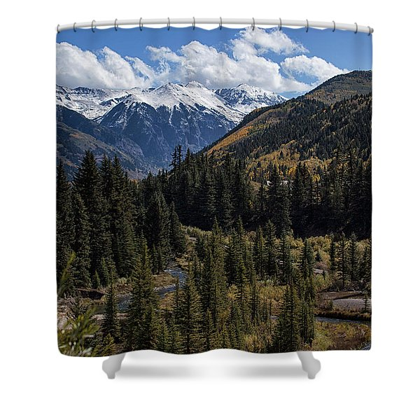 Snow Caps Shower Curtain