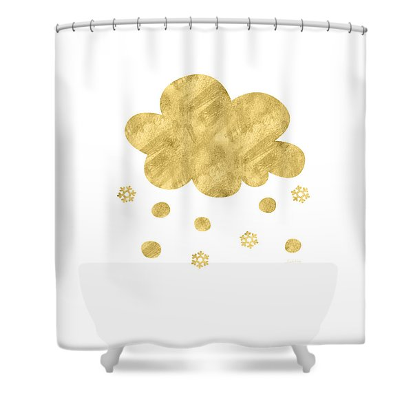 Snow Cloud- Art By Linda Woods Shower Curtain