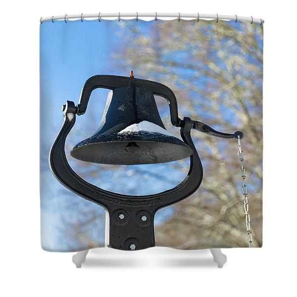 Snow Covered Bell Shower Curtain