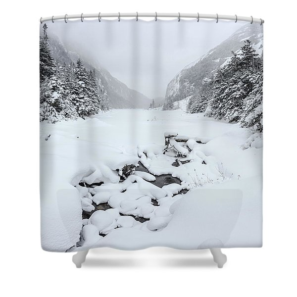 Snow Covered Lake Shower Curtain