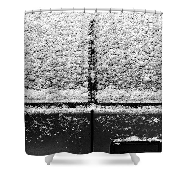 Snow Covered Rear Shower Curtain