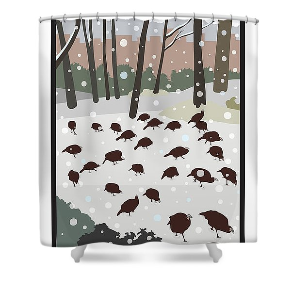 Snow Day Shower Curtain