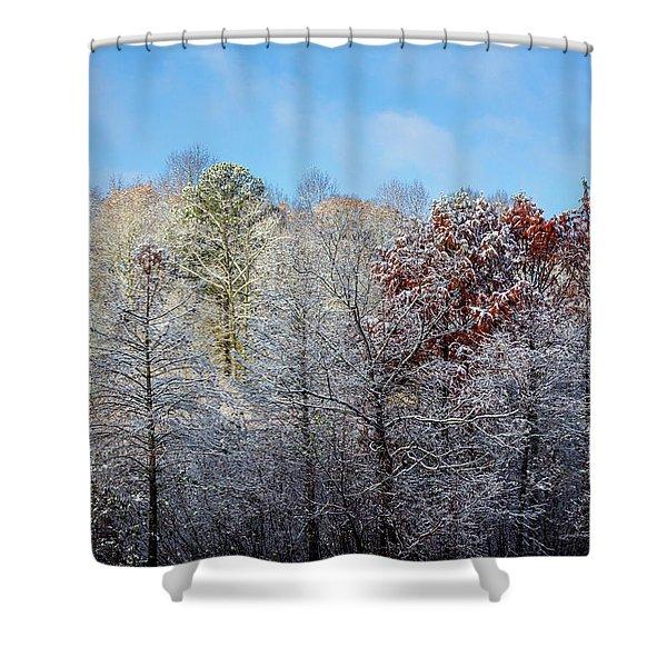 Snow Dust Shower Curtain