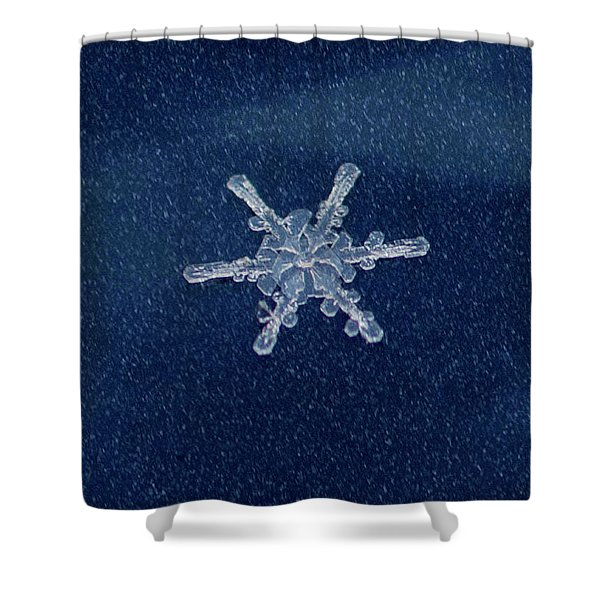 Snow Flake  Shower Curtain