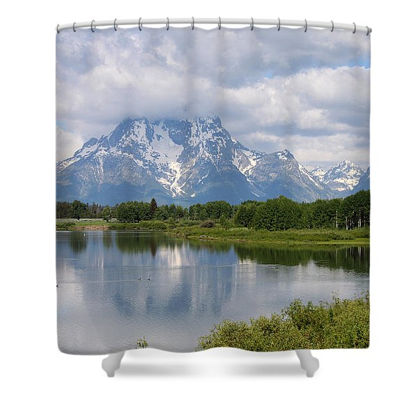 Snow In July Shower Curtain