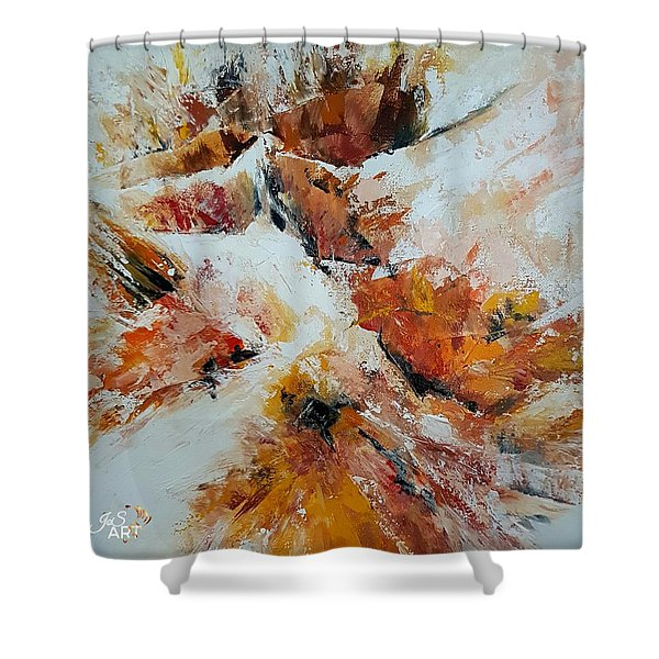 Snow In The Canyon Shower Curtain