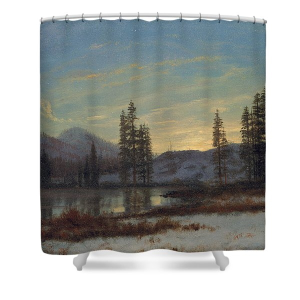 Snow In The Rockies Shower Curtain