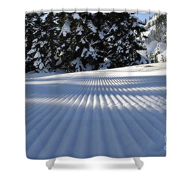 Snow Is Groovy Man Shower Curtain