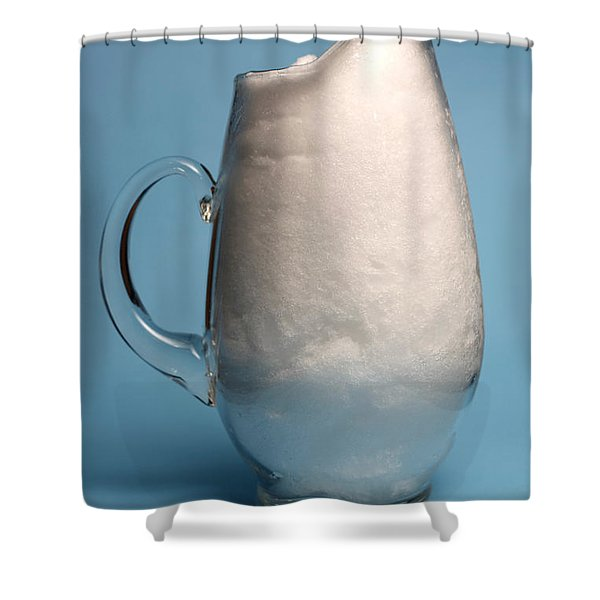 Snow Melting 1 Of 7 Shower Curtain