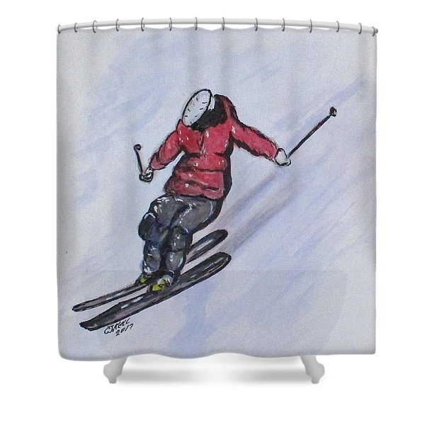Snow Ski Fun Shower Curtain